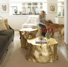 coffee table large decoration pieces with gold coating