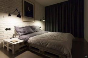 Modern and matching pallet bedroom