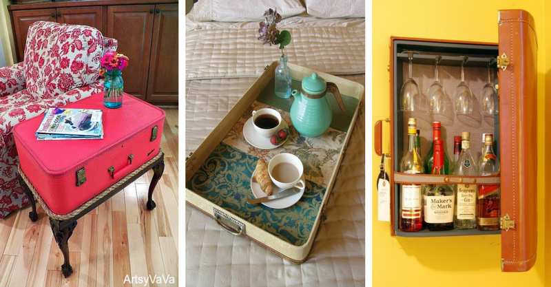 15 Amazing Ideas For Home Decorating Using Old Suitcases-3