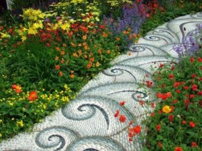 Natural feeling garden path