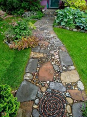 Tough and attractive garden path