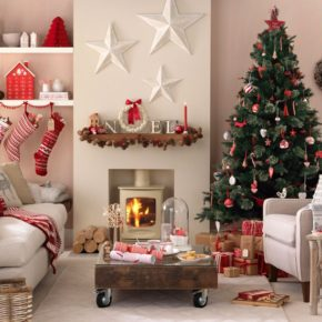 perfectly finished Christmas living room decoration