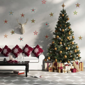 affordable Christmas living room decoration