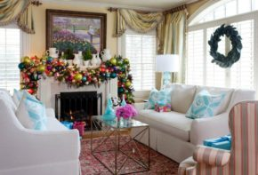 fascinating Christmas living room decoration