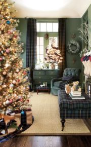 spectacular Christmas living room decoration