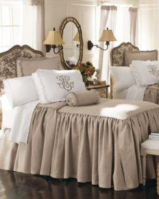 taupe white bedroom decoration