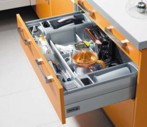 orange kitchen drawer