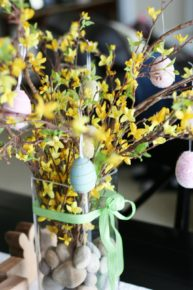 Easter eggs on twigs