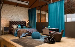 taupe turquoise bedroom decoration