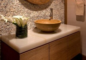 Actual finishing materials and tile in Bathroom Design