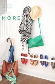 space-saving rack for shoes