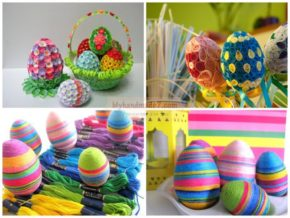 Enchanting colored Easter eggs