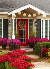 flower display front door