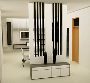 room divider with full height