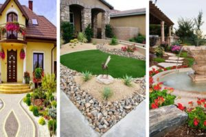 The garden and the yard in front of your house-F