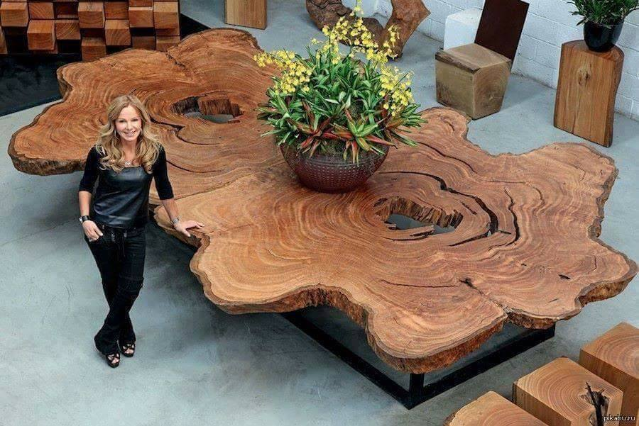 Charmant Unique And Artistic Wooden Table