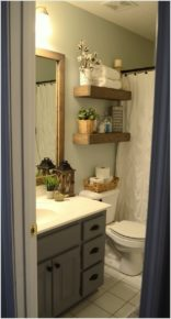 You can do it yourself wooden decor in bathroom