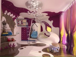 Teen bedroom in the kingdom of fiction