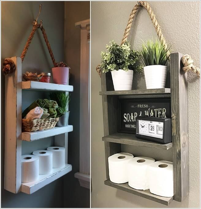 How to Add DIY Wood Decor in the Bathroom Home Decor Image