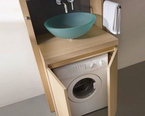 How to mount the washing machine under the sink