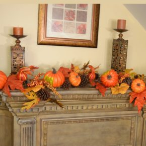 Thanksgiving day mantel decoration