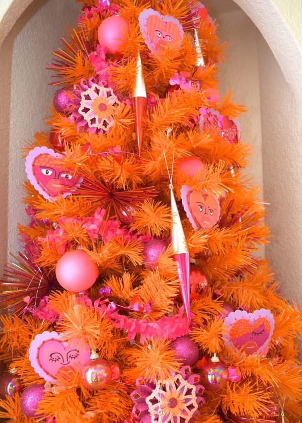 Orange is the New Pink for Valentines Day Trees