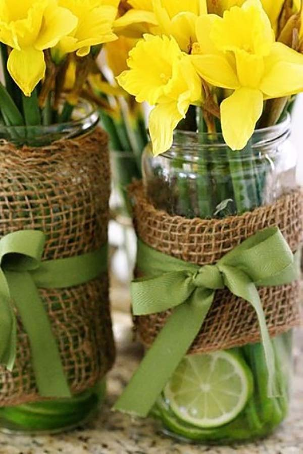 Yellow Floral Centerpieces for Spring Decoration