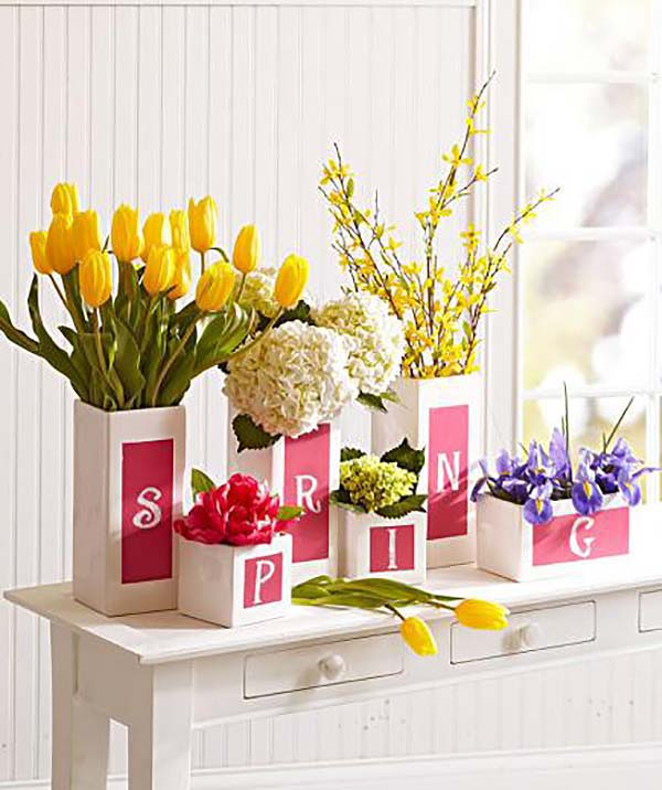 Yellow Tullip Spring Centerpiece