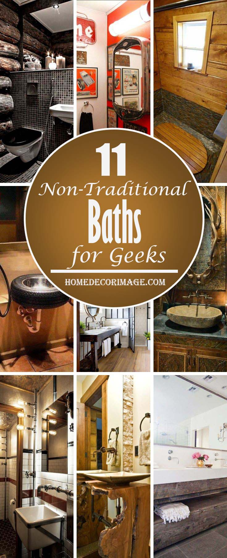 11 Non Traditional Baths for Geeks #bathroom #decor #homedecorimage