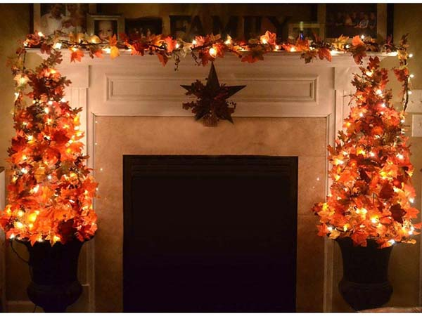 Arch Like Shaped Maple Leaves #Thanksgiving Day #decoration #homedecorimage