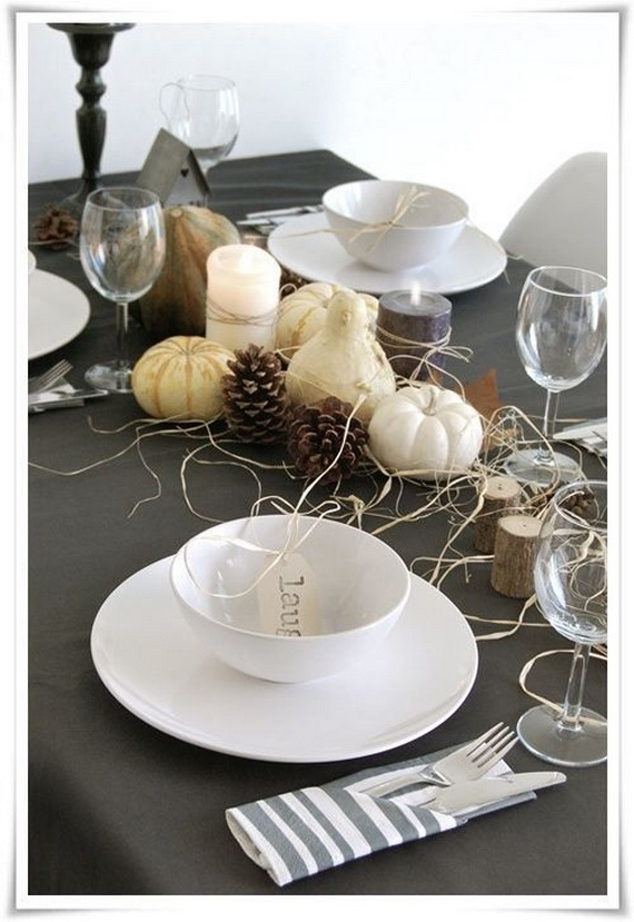 Exquisite and Beautiful #Thanksgiving Day #table #decor #homedecorimage