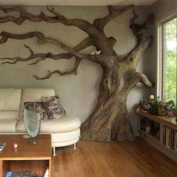 Log Wood for Wall Decoration #home #decor #homedecorimage