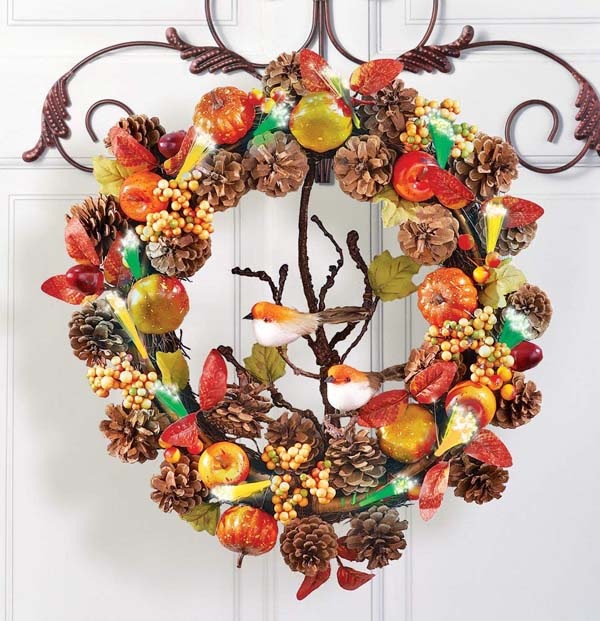 Nature Wreath #Thanksgiving Day #decoration #homedecorimage