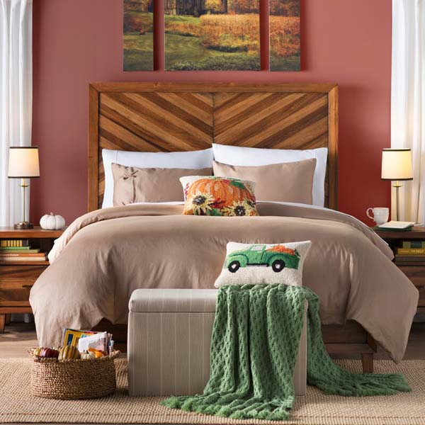 Pumpkin Pillow #Thanksgiving Day #decoration #homedecorimage