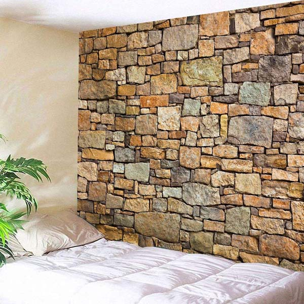 Stone Textured Wallpaper #home #decor #homedecorimage