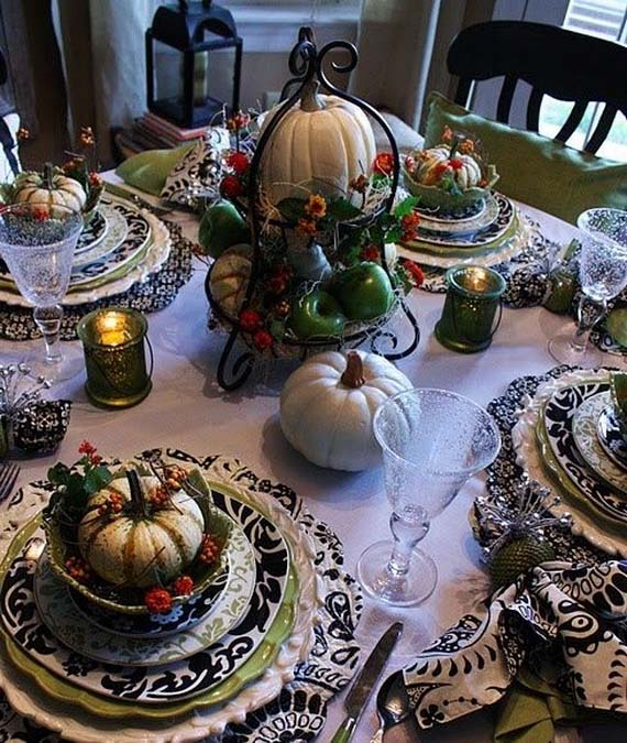 Thanksgiving Décor Idea with a Holiday Spirit #Thanksgiving Day #table #decor #homedecorimage