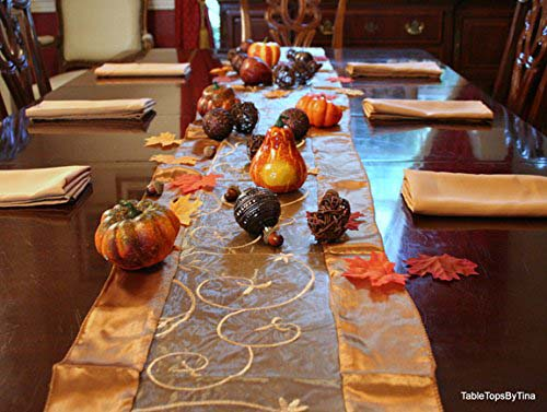 Thanksgiving Table Decor with Napkins for 8 #Thanksgiving Day #table #decor #homedecorimage