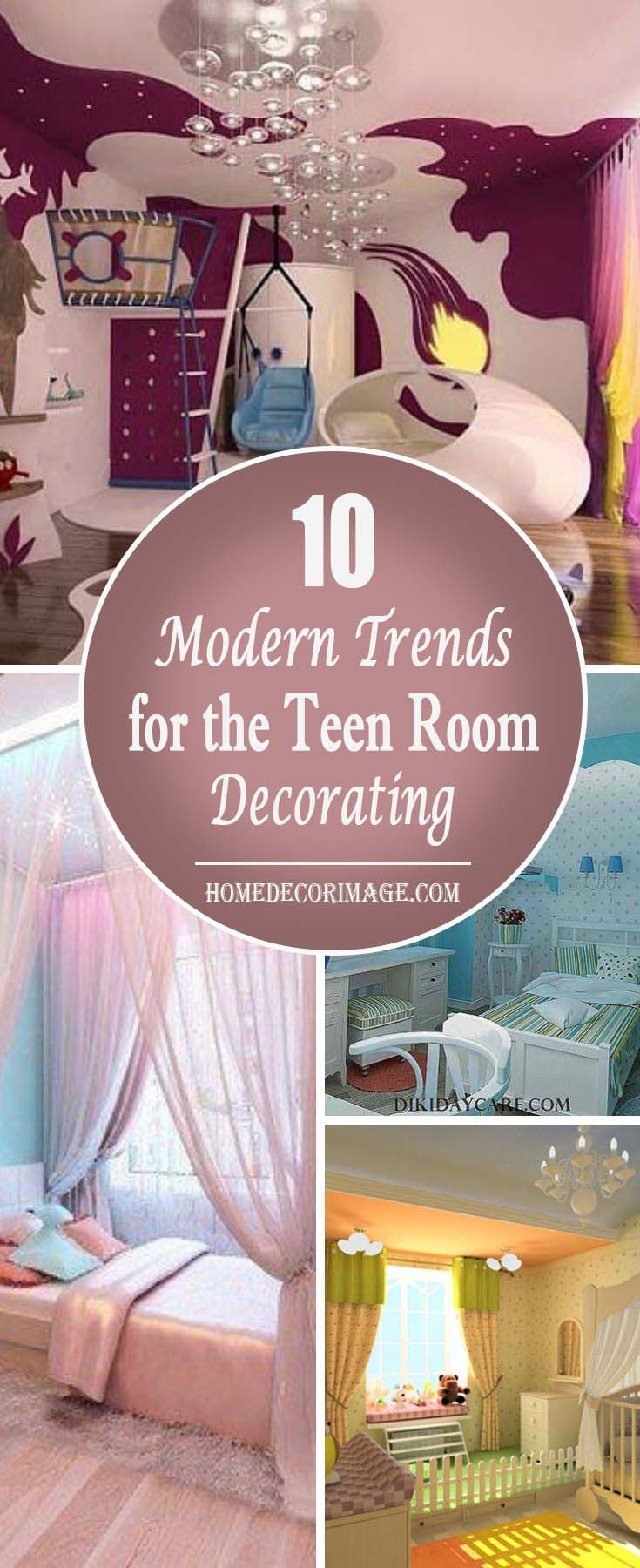 In blue, pink or yellow the room will meet the needs of your child for imagination, fantasy and reality and will prepare him for his future life. #teen rooms #decoration #homedecorimage