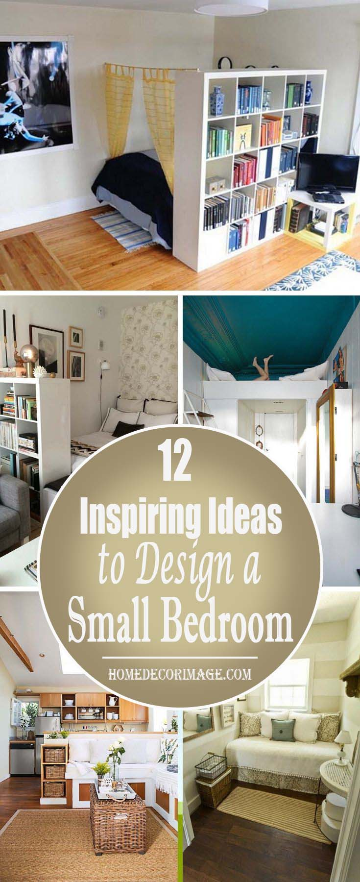 12 Inspiring Ideas to Design a Small Bedroom #small bedroom #bedroom #interior #homedecorimage