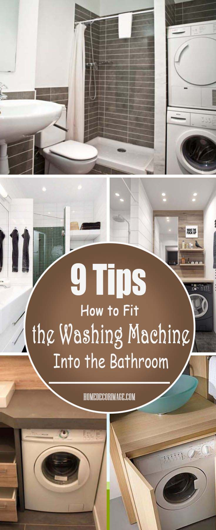 How to Fit the Washing Machine Into the Bathroom 9 Tips