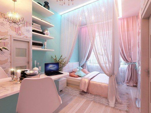 A Pink Room for Grown Girls #teen rooms #decoration #homedecorimage