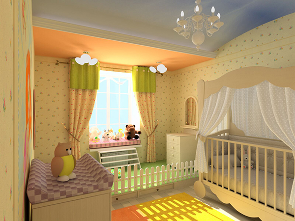 A Room in Sunny Yellow and Orange #teen rooms #decoration #homedecorimage