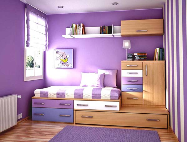 Kid's Bedroom in Purple #kid's room #interior #homedecorimage