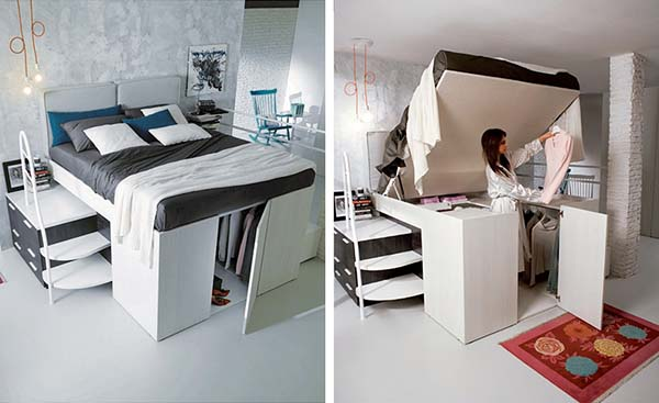 Innovative Bed #small bedroom #bedroom #interior #homedecorimage