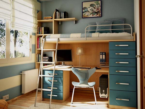 Innovative Solution for Kid's Room Design #kid's room #interior #homedecorimage