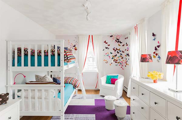 Kid's Room Design in White #kid's room #interior #homedecorimage