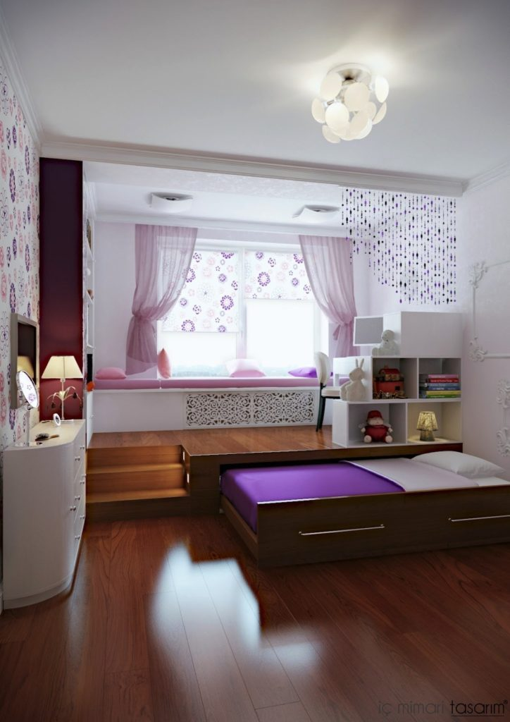Purple Room for Girls #teen rooms #decoration #homedecorimage