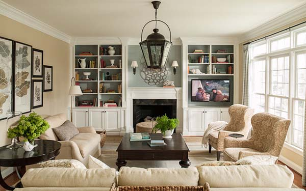 The TV as Part of the Interior #TV decor #home decor #homedecorimage