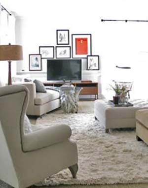 The TV Occupies a Central Place #TV decor #home decor #homedecorimage