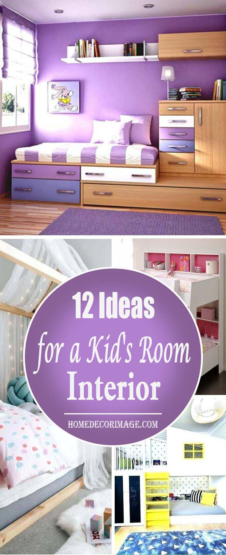 The Kid's Room Interior–12 Inspiring Ideas to Design #kid's room #interior #homedecorimage